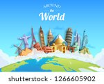 travel around the world concept ... | Shutterstock .eps vector #1266605902