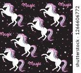 unicorn and the inscription... | Shutterstock . vector #1266606772