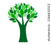tree with leaves icon. plant... | Shutterstock .eps vector #1266610312