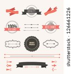 vector illustration. collection ... | Shutterstock .eps vector #126661226