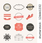 vector illustration. collection ... | Shutterstock .eps vector #126661232