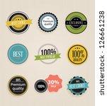 vector illustration. collection ... | Shutterstock .eps vector #126661238