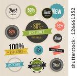 vector illustration. collection ... | Shutterstock .eps vector #126661352