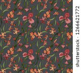seamless floral pattern with... | Shutterstock . vector #1266621772