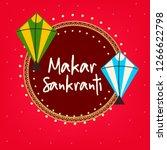 happy makar sankranti...   Shutterstock .eps vector #1266622798
