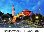 istanbul mosque   hagia sophia... | Shutterstock . vector #126662582