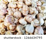 close up of the garlic in a...