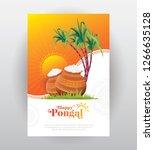 pongal festival greeting... | Shutterstock .eps vector #1266635128