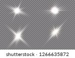 white glowing light explodes... | Shutterstock .eps vector #1266635872
