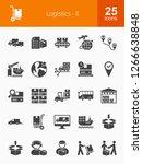 logistics glyph icons | Shutterstock .eps vector #1266638848