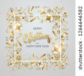 the inscription merry christmas ... | Shutterstock . vector #1266646582