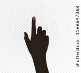 realistic 3d black hand with an ... | Shutterstock .eps vector #1266647368