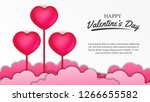 happy valentine's day banner... | Shutterstock .eps vector #1266655582
