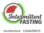 logo of intermittent fasting.... | Shutterstock .eps vector #1266658015