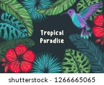tropical paradise. tropical... | Shutterstock .eps vector #1266665065