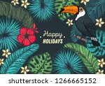 tropical collection. tropical...   Shutterstock .eps vector #1266665152