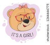 happy fantasy teddy bear girl... | Shutterstock .eps vector #1266666775