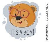 happy fantasy bear boy in... | Shutterstock .eps vector #1266667072