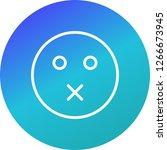 mute emoji vector icon sign...   Shutterstock .eps vector #1266673945