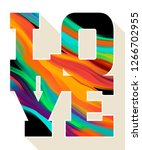love   lettering poster concept....   Shutterstock . vector #1266702955