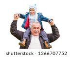 happy grandfather and grandson. ...   Shutterstock . vector #1266707752