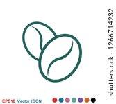 coffee bean icon. flat vector... | Shutterstock .eps vector #1266714232