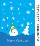 christmas card | Shutterstock . vector #126671582