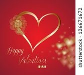 valentines day greeting card... | Shutterstock .eps vector #126671672