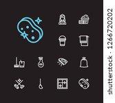 hygiene icons set. laundry and...