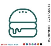 burger icon vector of fast food ...
