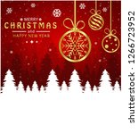 merry christmas and happy new... | Shutterstock .eps vector #1266723952