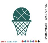 basketball icon vector in...   Shutterstock .eps vector #1266724732