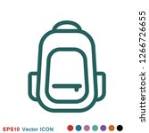 backpack solid icon. luggage...   Shutterstock .eps vector #1266726655