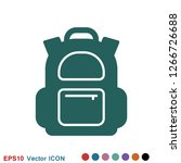 backpack solid icon. luggage...   Shutterstock .eps vector #1266726688