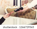 electronic finance and shopping ... | Shutterstock . vector #1266729565