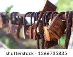 Rusty Lovers Lock Hangs On A...