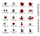 Stock vector cat and dog icons isolated on white background vector illustration graphic design editable for 126673922