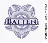 blue passport rosette with text ... | Shutterstock .eps vector #1266746965