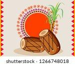 happy lohri design with...   Shutterstock .eps vector #1266748018