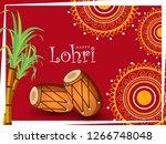 happy lohri design with...   Shutterstock .eps vector #1266748048