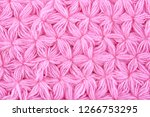 pink woolen texture background. ... | Shutterstock . vector #1266753295