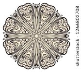 pattern of mandala. vector... | Shutterstock .eps vector #1266802708