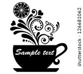 tea with lemon isolated on... | Shutterstock .eps vector #126681062