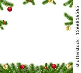 xmas garlands with fir tree and ... | Shutterstock . vector #1266816565