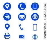 web business icon. vector... | Shutterstock .eps vector #1266819052