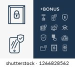 protection icon set and...