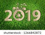 happy new year 2019 | Shutterstock . vector #1266842872