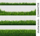green grass borders set... | Shutterstock .eps vector #1266844708