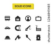 build icons set with man ...