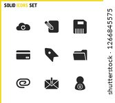 interface icons set with attach ...